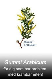 Gummi Arabicum fr�n Tilbudet f�r dig som har problem med krambarheten!