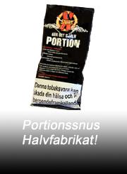Portionssnus som halvfabrikat fr�n Tilbudet